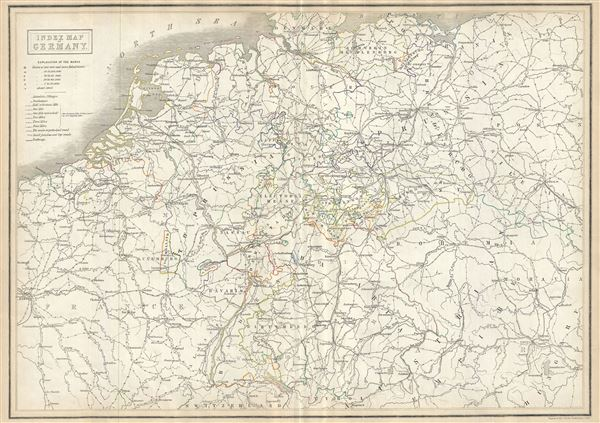 Map Of Holland And Germany.Index Map Of Germany Geographicus Rare Antique Maps