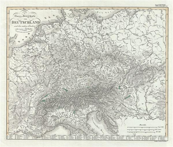 Fluss-u. Berg-Karte von Deutschland und der anlieg. Landern.