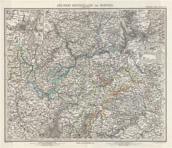 Sud-West Deutschland und Schweiz.  Nordlicher Theil.