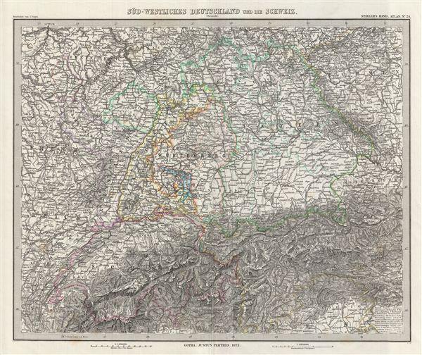 Sud-Westliches Deutschland und die Schweiz.