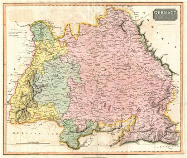 River Map Of Germany.Germany South Of The Mayne Geographicus Rare Antique Maps
