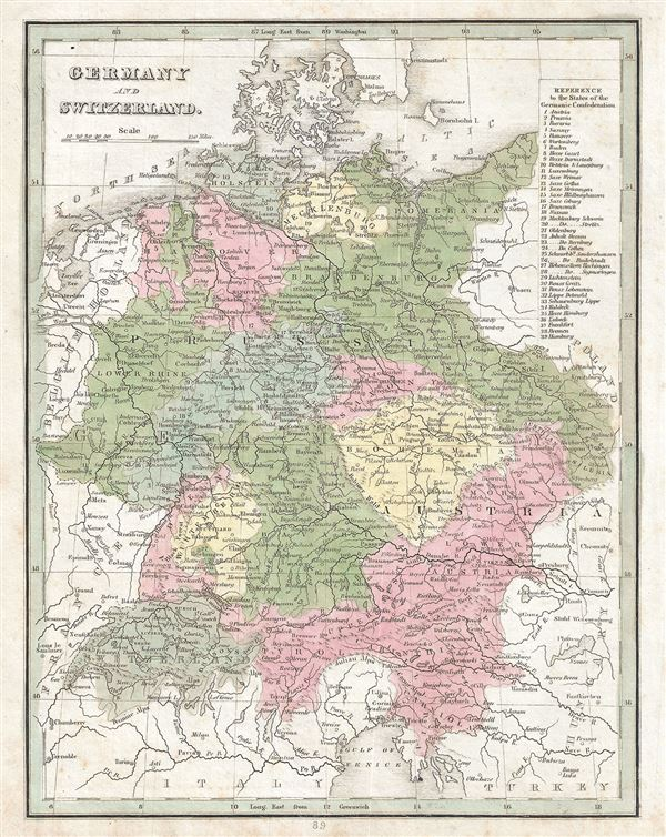 Germany and switzerland geographicus rare antique maps germany and switzerland gumiabroncs Image collections