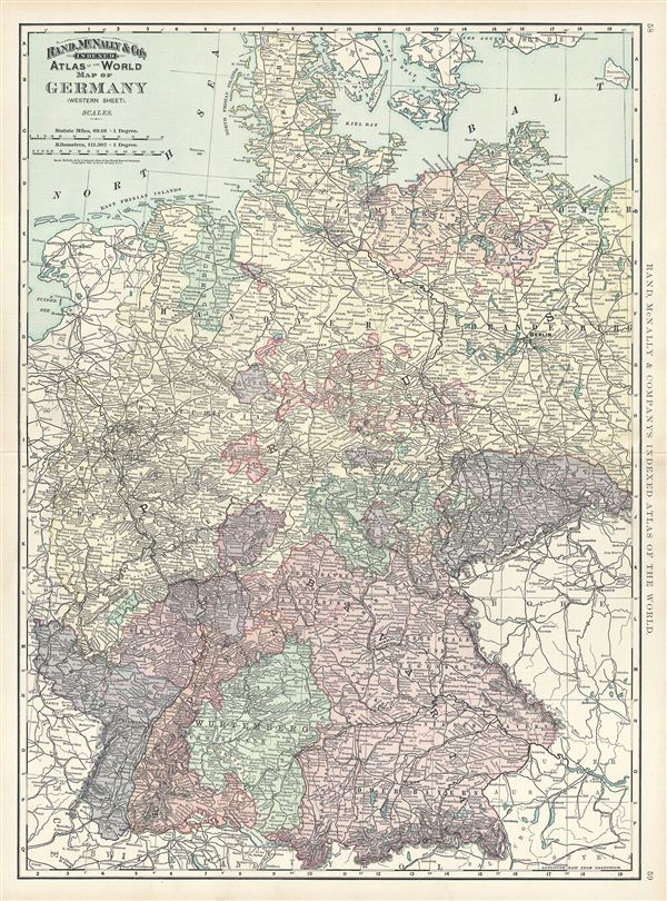 Map of Germany Western Sheet Geographicus Rare Antique Maps