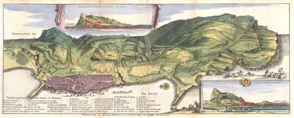 Gibraltar met alle zyne fortificatien en Verbeeteringen tot desselus Verzeekering. - Main View