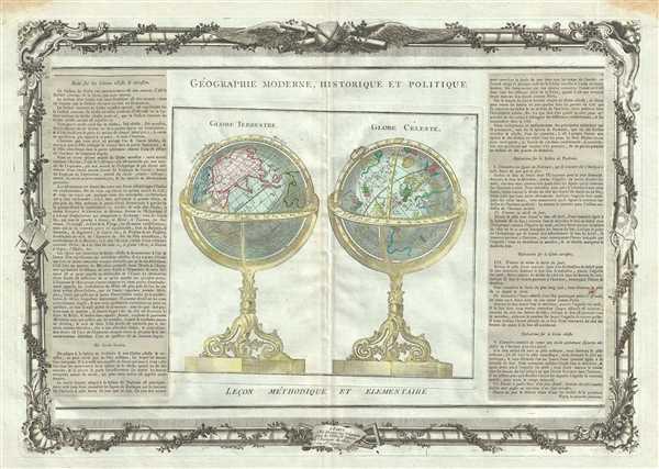 Globe Terrestre. Globe Celeste.
