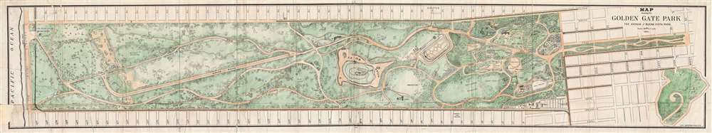 Map showing the Golden Gate Park The Avenue and Buena Vista Park. - Main View