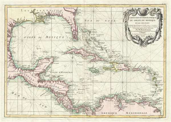 Carte geo-hydrographique du Golfe du Mexique et de ses isles.