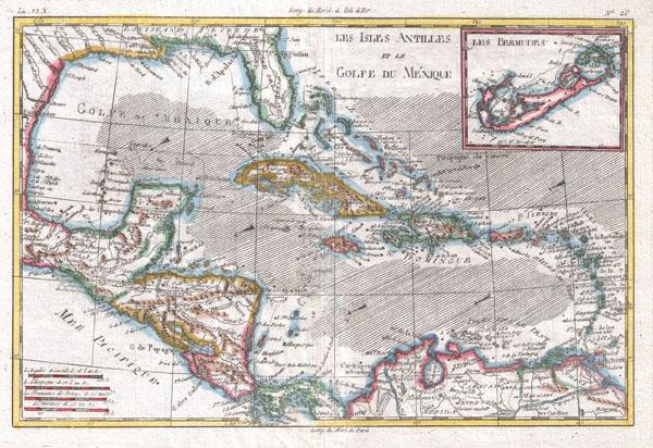 Les Isles Antilles Et Le Golfe Du Mexique