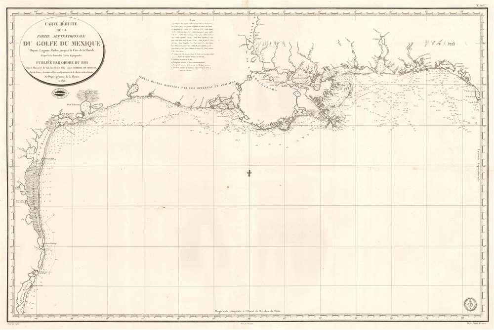 Carte Réduite de la Partie Septentrionale du Golfe du Mexique Depuis Laguna Madre jusqu'à la Côte de la Floride. - Main View