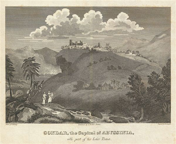 Gondar, the Capital of Abyssinia, with part of the Lake Tzana. - Main View
