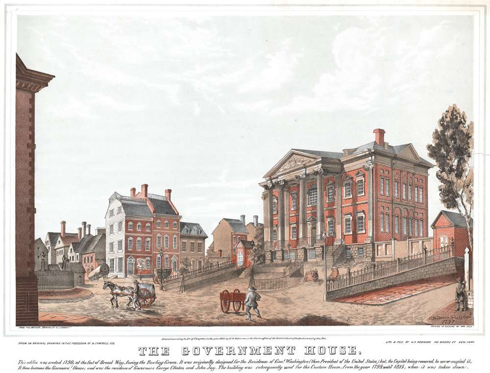 1847 Robinson View of the Government House in New York City