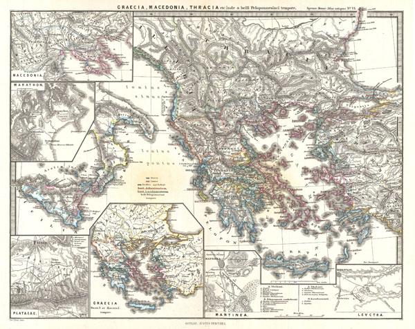 Graecia, Macedonia, Thracia etc. inde a belli Peloponnesiaci tempore. - Main View