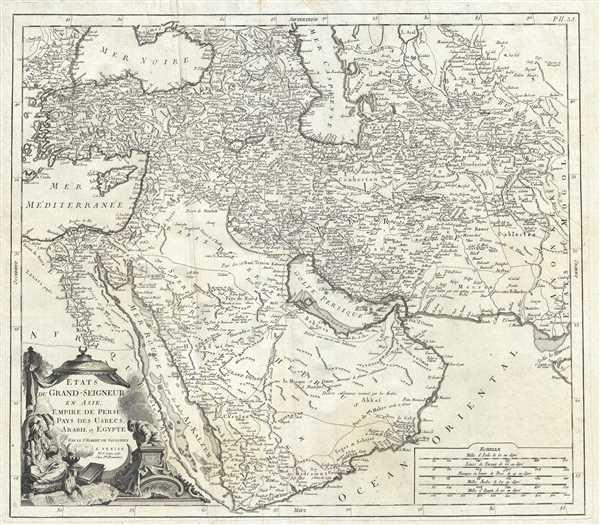 Etats du Grand-Seigneur en Asie, Empire de Perse, Pays des Usbecs, Arabie et Egypte.