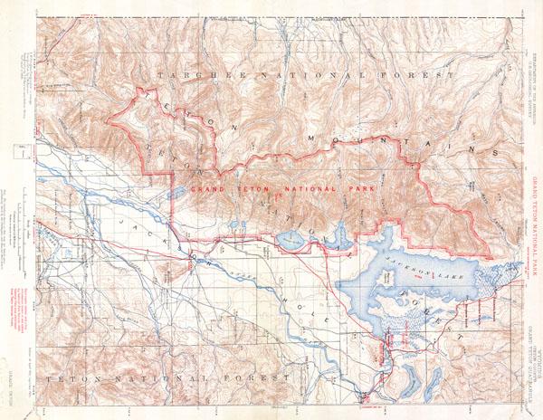 Wyoming ( Teton County ) Grand Teton Quadrangle - Main View