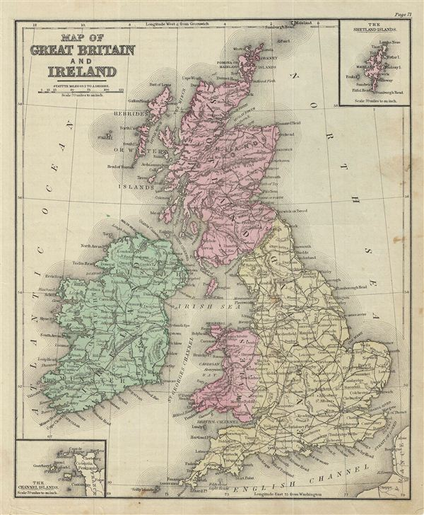 Map of Great Britain and Ireland.