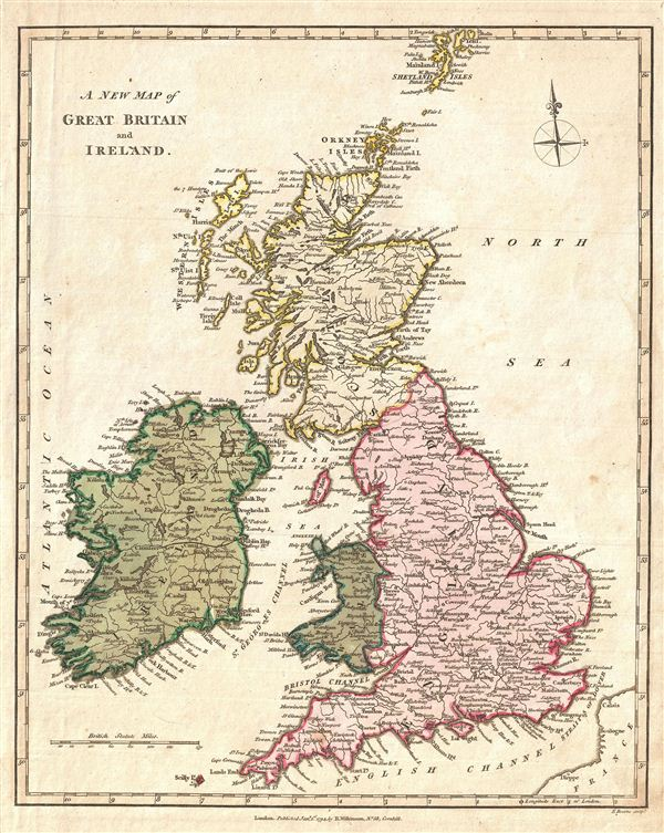 Map Of Uk Scotland And Ireland.A New Map Of Great Britain And Ireland Geographicus Rare Antique Maps
