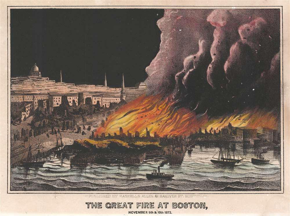 The Great Fire at Boston, November 9th and 10th, 1872. - Main View