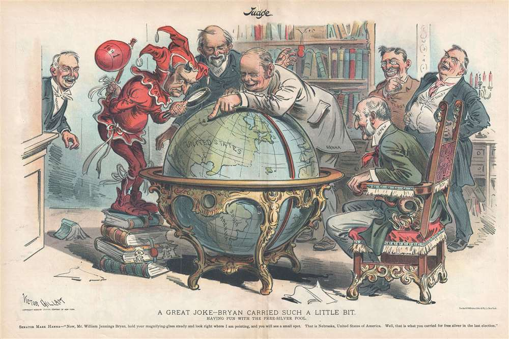 1899 Gillam Political Cartoon Mocking Populist and Free Silver Election Losses