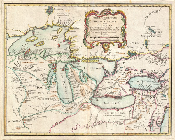 Partie Occidentale de la Nouvelle France ou du Canada. - Main View