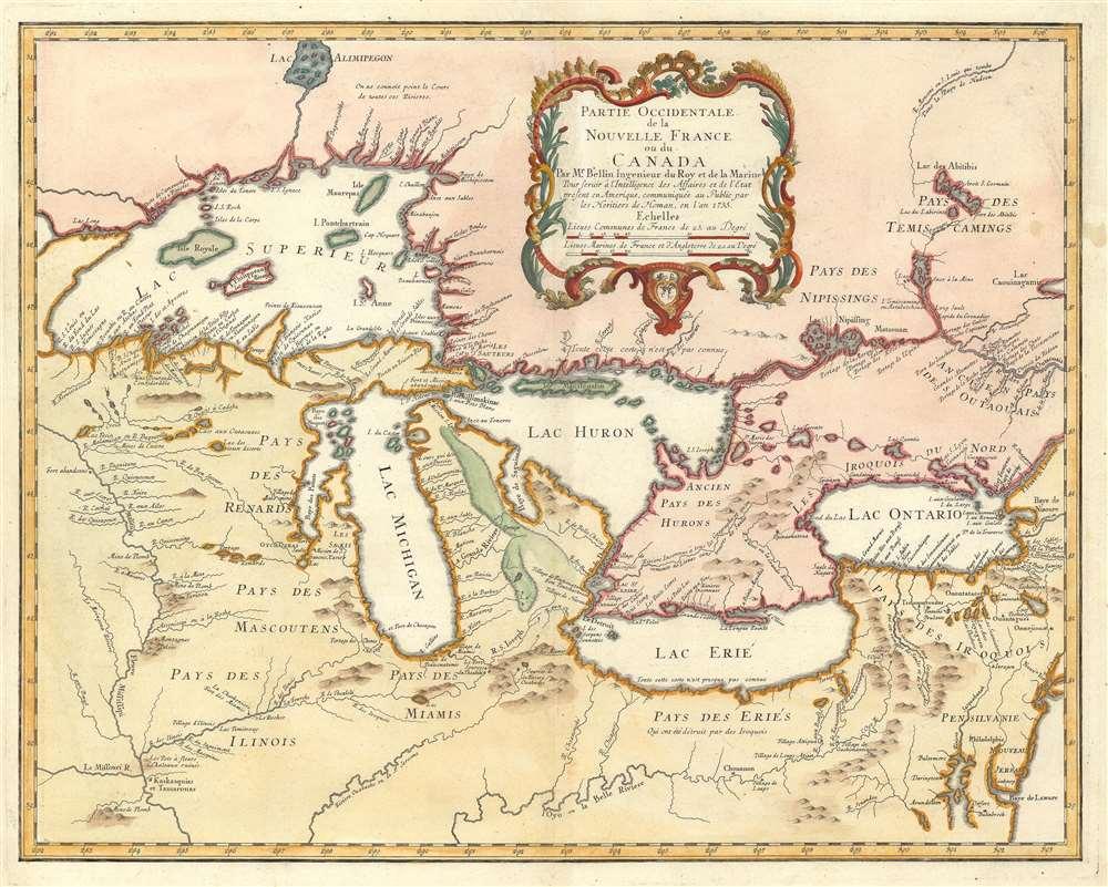 Partie Occidentale de la Nouvelle France ou du Canada.