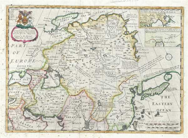 A new map of Great Tartary, and China : with the adjoyning Parts of Asia.