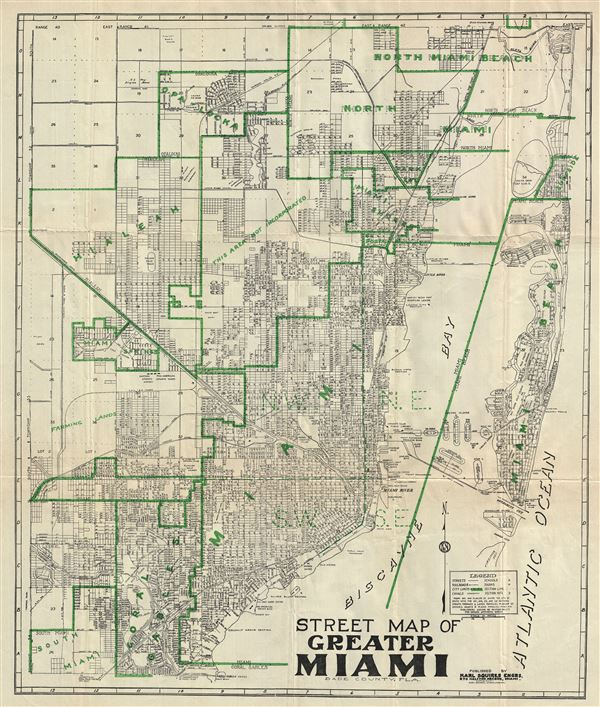 Street Map of Greater Miami Dade County, Fla. - Main View