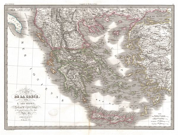 Carte de la Grece, et de L'Archipel.