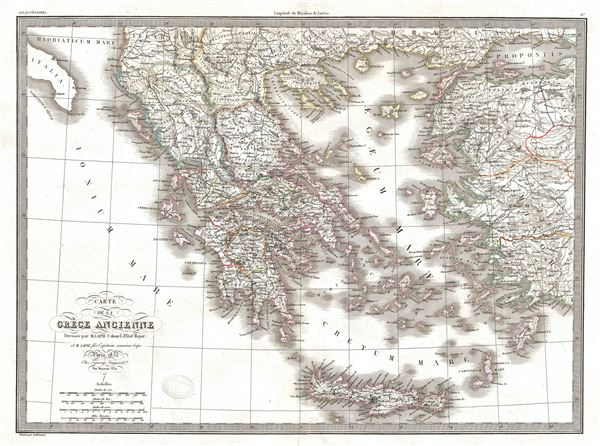 Carte de la Grece Ancienne. - Main View