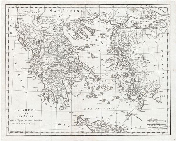 La Grece et ses Isles Pour le Voyagedu Jeune Anacharsis.