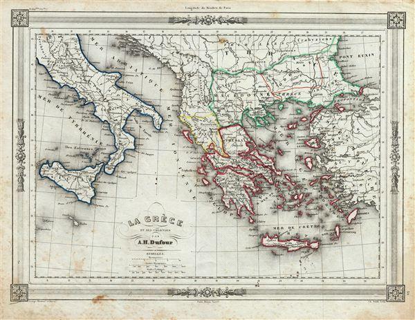 La Greece et ses Colonies. - Main View