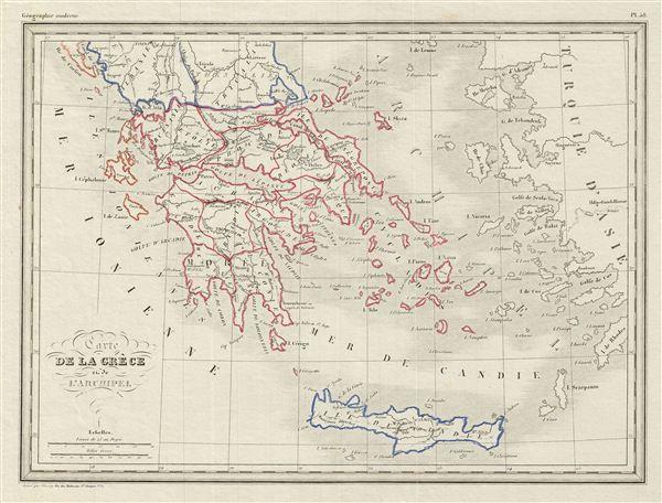 Carte de la Grece et de l'Archipeil.