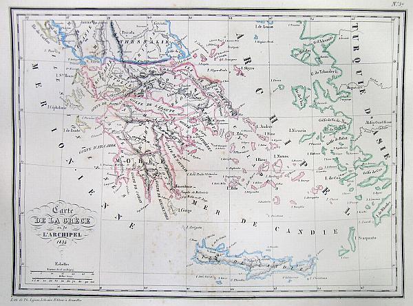 Carte de la Grece en de L'Archipel 1834.