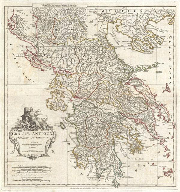 Graeciae Antiquae Specimen Geographicum.