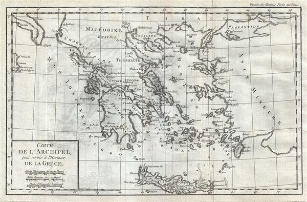 Carte de l'Archipel pour servir a l'Histoire de la Grece.