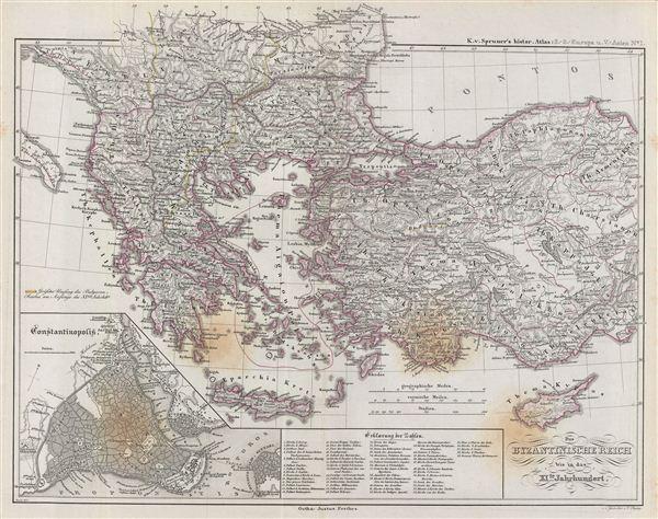 Das Byzantinische Reich bis in das XIte. Jahrhundert.