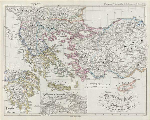 Griechenland und Kleinasien vom XIten bis in die Mitte des XIIIten Jhdts.