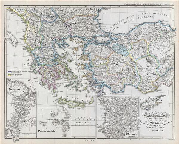 Griechenland und Kleinasien bis zur Eroberung Konstantinopel's durch die Osmannen am 29ten May 1453.