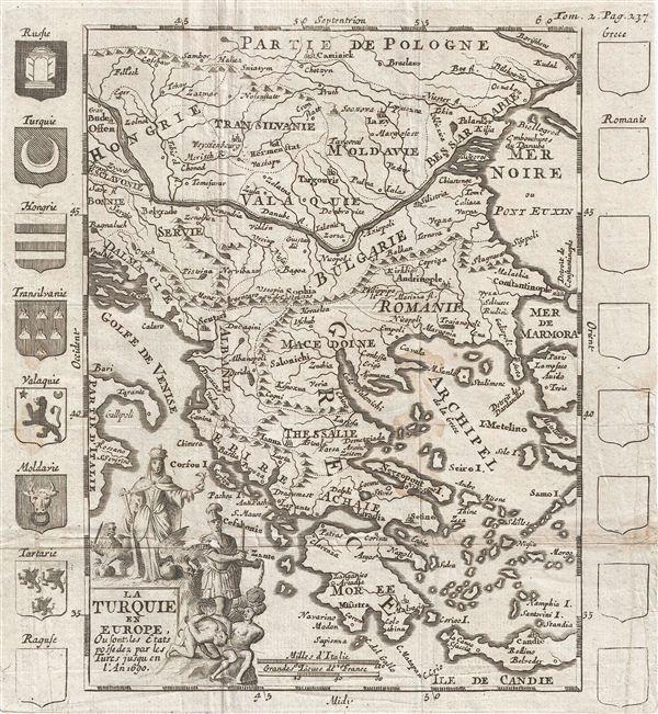 La Turquie en Europe, ou la Turquie en Europe ou font, les Etats pofedez par les Tures Jusqu en l'An 1690.