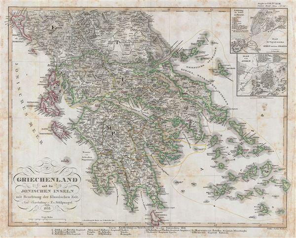 Griechenland und die Ionischen Inseln mit Beachtung der Klassischen Zeit.