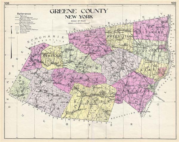 Greene County New York. - Main View