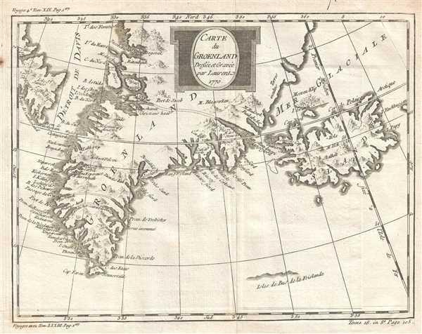 Carte du Groenland. - Main View