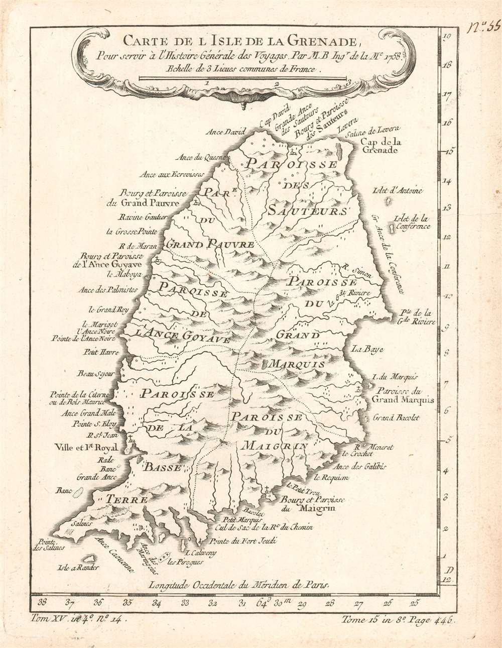 Carte de l'Isle de la Grenade. Pour servir à l'Histoire Générale des Voyages. - Main View