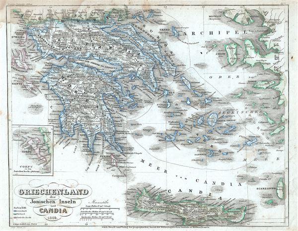 Griechenland die Jonischen Inseln und Candia.