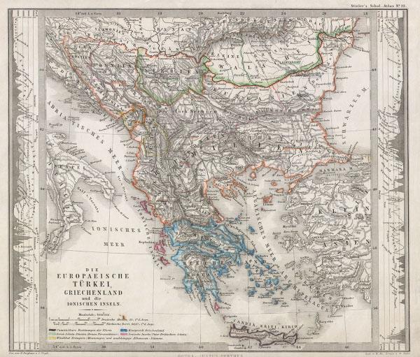 Die Europaeische Turkei, Griechenland und die Ionischen Inseln. - Main View