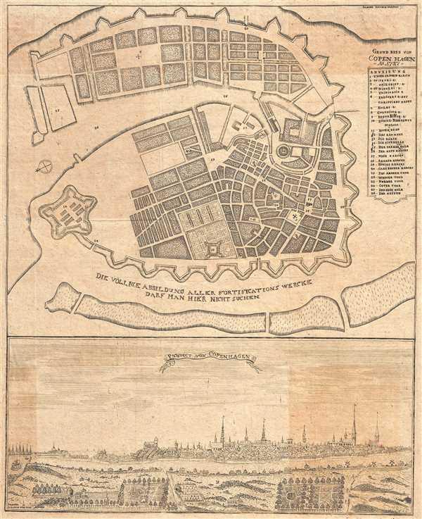 Grundriss von Copenhagen Ao 1727