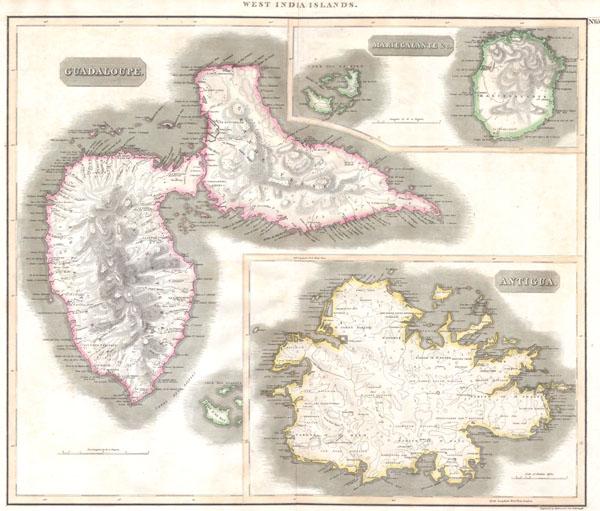 West Indies.  Guadaloupe. Antigua. MarieGalante & c.