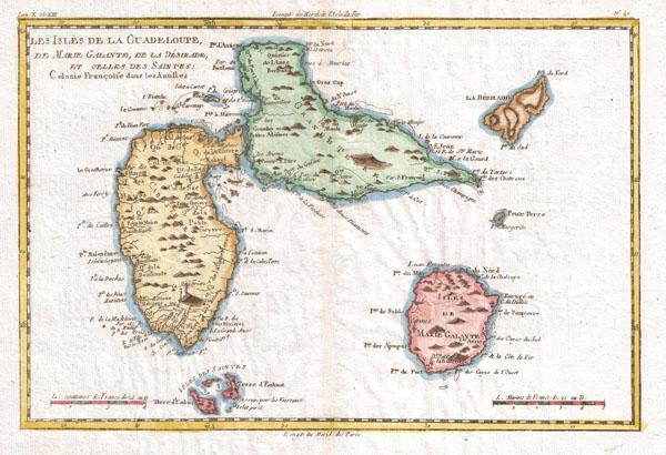 Les Isles de la Guadeloupe, De Marie Galante, De La Desirade, et Celles Des Saintes: Colonie Francoise dans les Antilles.