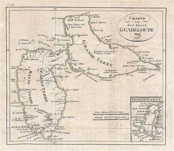 Charte von der Insel Guadeloupe.