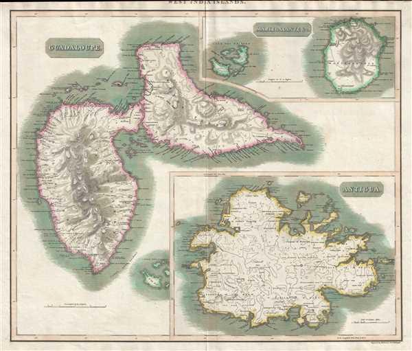 West India Islands. Guadaloupe. Antigua. Mariegalante etc.