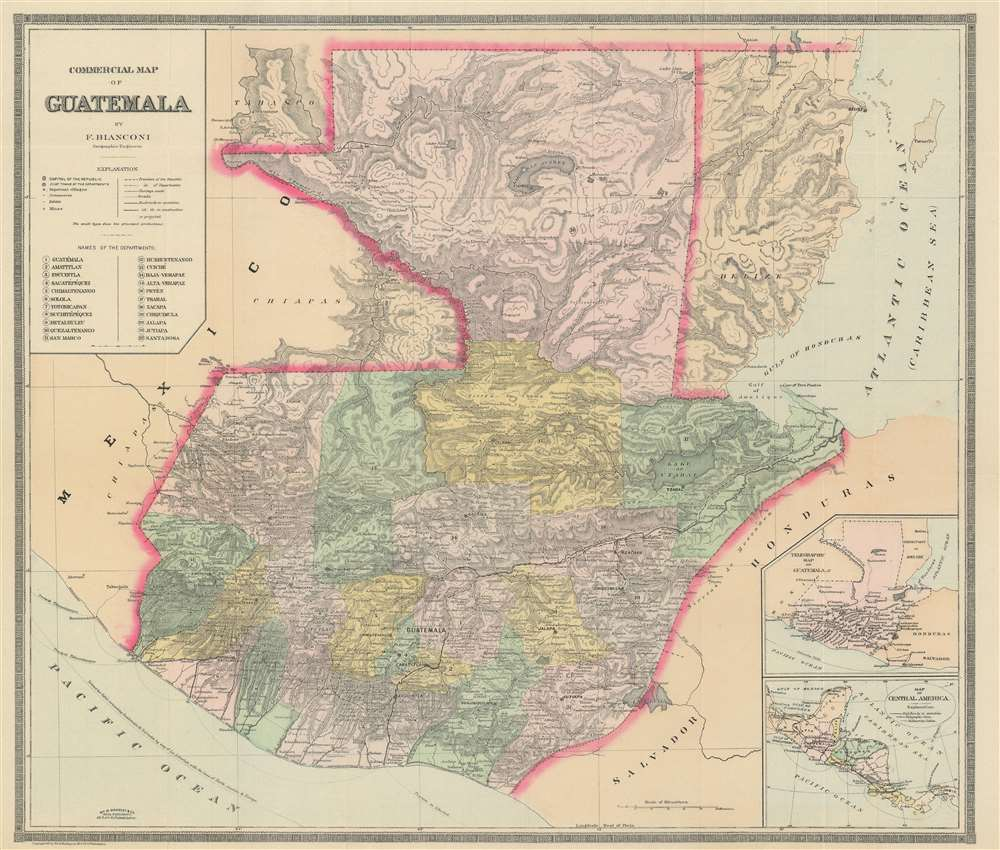 Commercial Map of Guatemala.: Geographicus Rare Antique Maps